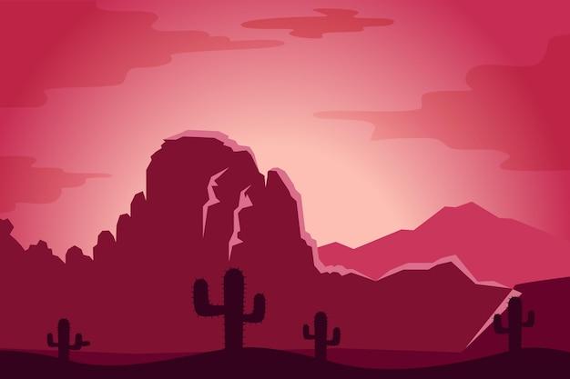 Concetto di carta da parati del paesaggio del deserto