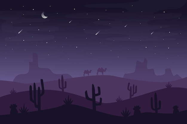 ビデオ会議用の砂漠の風景の壁紙