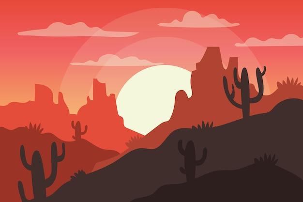 砂漠の風景の壁紙のテーマ