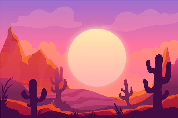 Desert landscape wallpaper for video conferencing