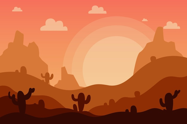 Desert landscape wallpaper