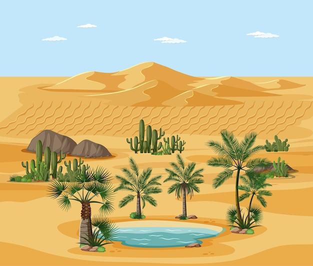 Пустынный пейзаж с элементами сцены дерева природы