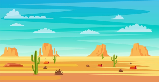 Пейзаж пустыни.
