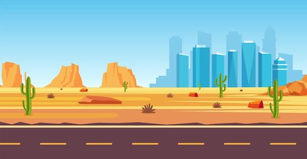 砂漠の風景。