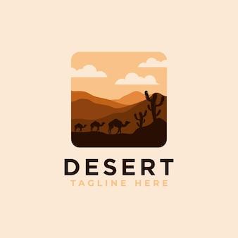 Шаблон дизайна логотипа пустыни