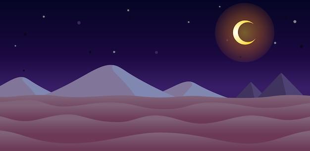 砂漠の夜のゲームの背景