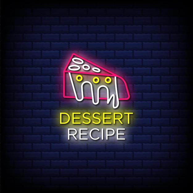 Рецепт пустыни неоновые вывески стиль текста