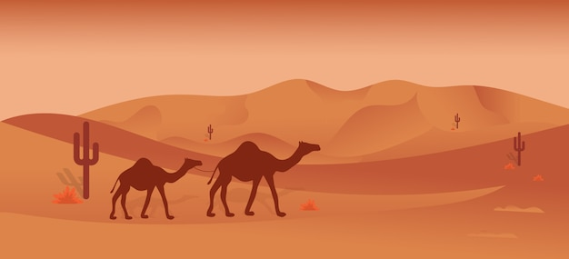 Desert safari illustration