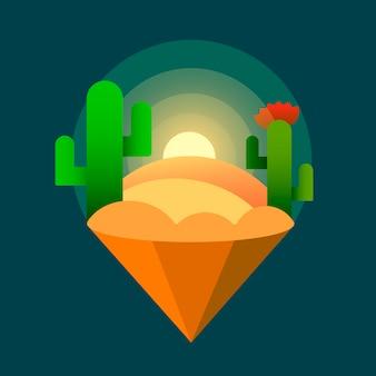 Desert sunset cacti