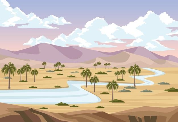 Пустыня с рекой