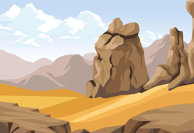 바위와 사막