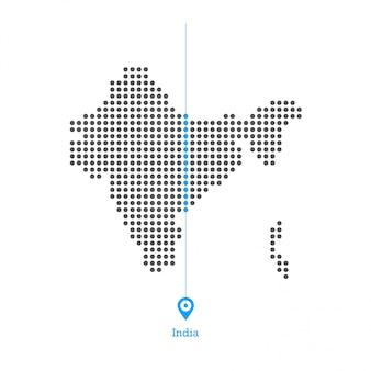 インドのドットマップdesginベクトル