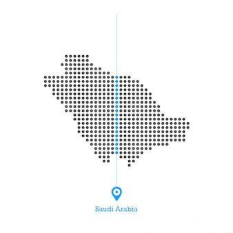 サウジアラビアのドットマップdesginベクトル