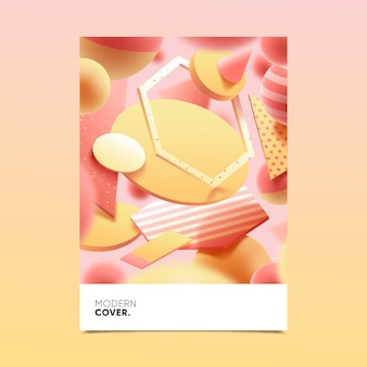 Design of 3d geometric shape cover for template