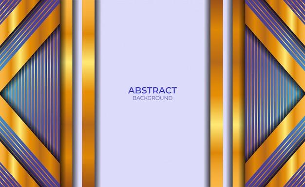 Дизайн абстрактный синий и золотой фон