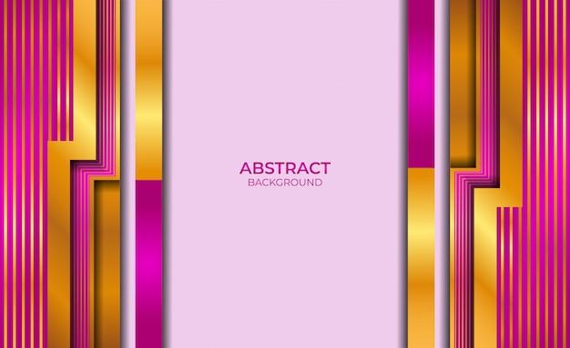 Дизайн абстрактный золотой и фиолетовый стиль