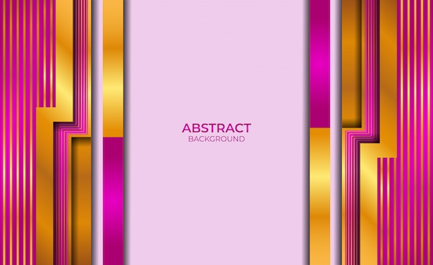Design abstract gold and purple style