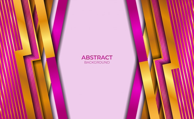 Design abstract style gold and purple background