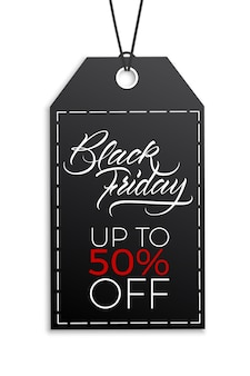 Design of an advertising poster for discounts on a black friday