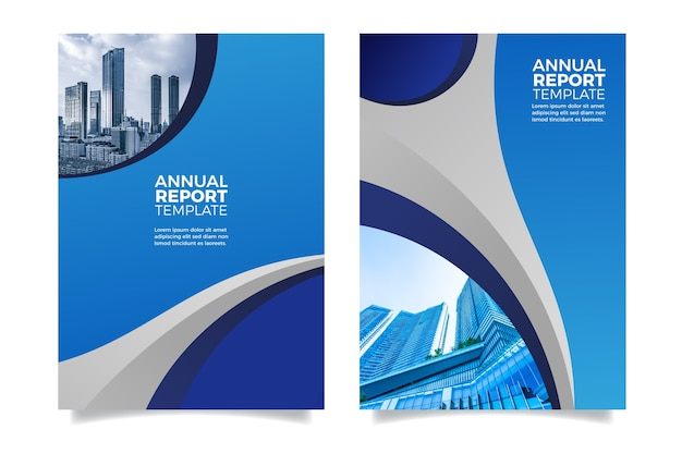 Design annual report futuristic design