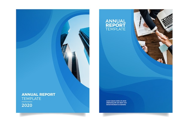 Design annual report with buildings
