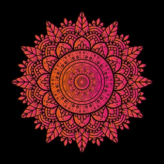 The design background of a luxury mandala ornament with a simple motif