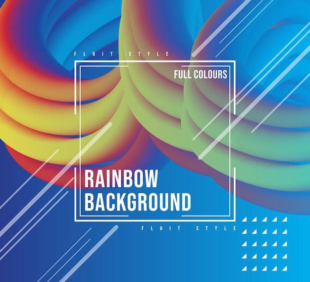 Дизайн фона raindow fluit
