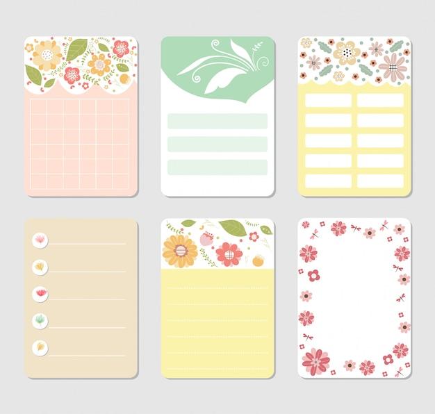 Design background set for notebook