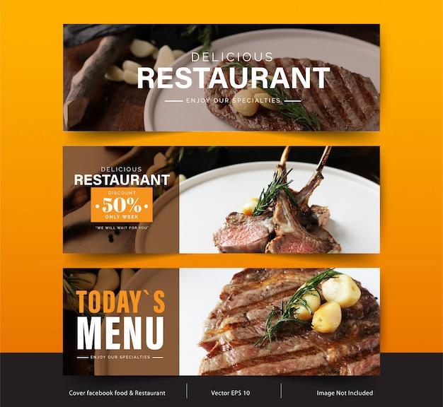 Дизайн баннера для социальных сетей, шаблон facebook обложка для рекламы