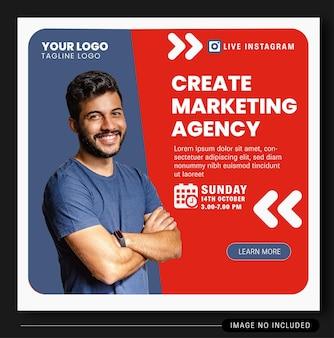 Дизайн баннера live instagram digital agency 1