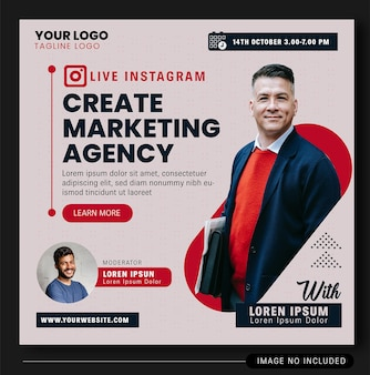 Дизайн баннера live instagram digital agency 2