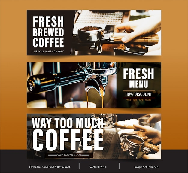 Design banner for social networks, template facebook cover for advertising