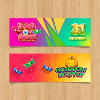 Design banners trick or treet. halloween