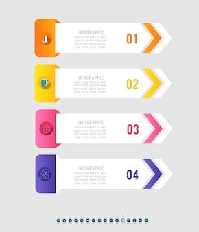Дизайн бизнес четыре варианта инфографики элемент диаграммы.