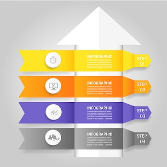 Design business template 4 options infographic for presentations.