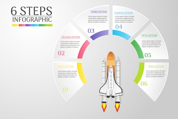 Design business template infographic chart element for presentations.