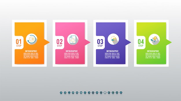 Дизайн бизнес шаблон инфографики элемент диаграммы.