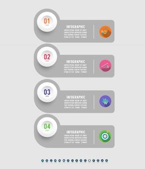 ビジネステンプレートインフォグラフィックグラフ要素をデザインします。