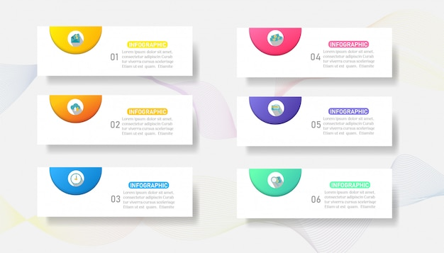 Design business template options infographic chart element.