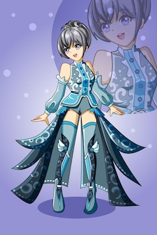 Design character game illustration of beautiful girl