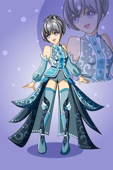 아름다운 소녀의 디자인 캐릭터 게임 일러스트
