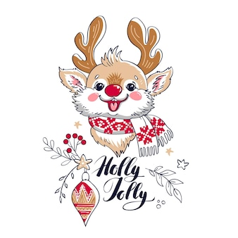 Design of christmas greeting card