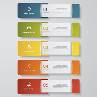 Design clean number banners template