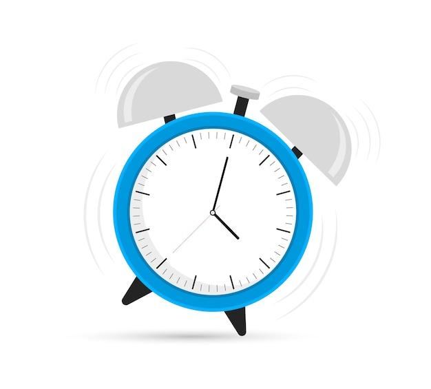 Design concept of blue ringing alarm clock