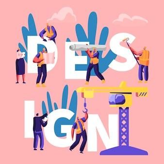 Design concept. cartoon flat  illustration