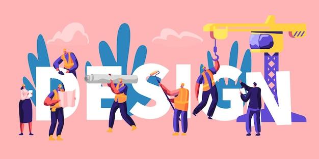 Design concept cartoon flat  illustration