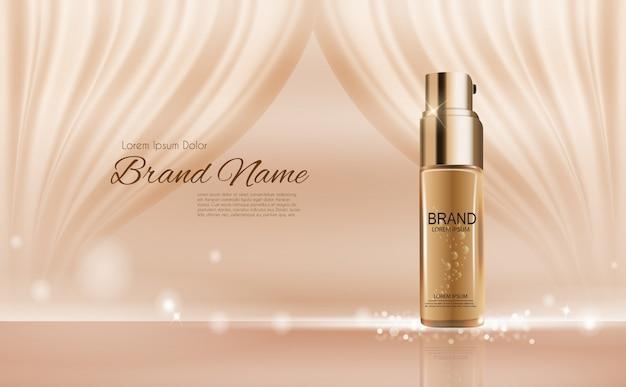 Design cosmetics product 3d realistic illustration