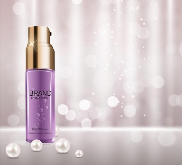 Design cosmetics product. 3d realistic