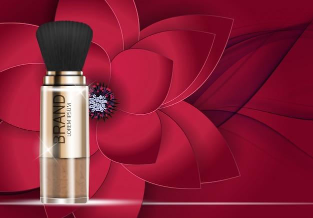 Design cosmetics product powder шаблон для рекламы или фона журнала