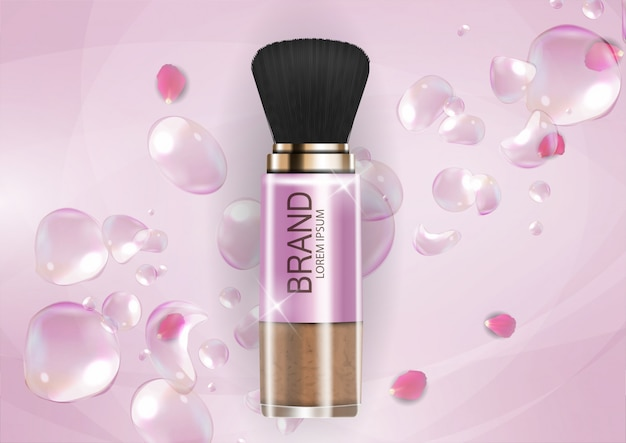 Design cosmetics product  template for ads